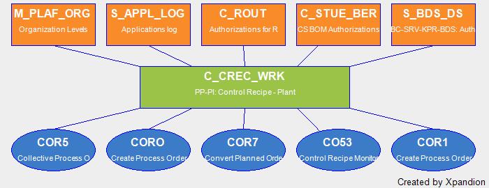 SAP Authorization Object C_CREC_WRK PP-PI: Control Recipe