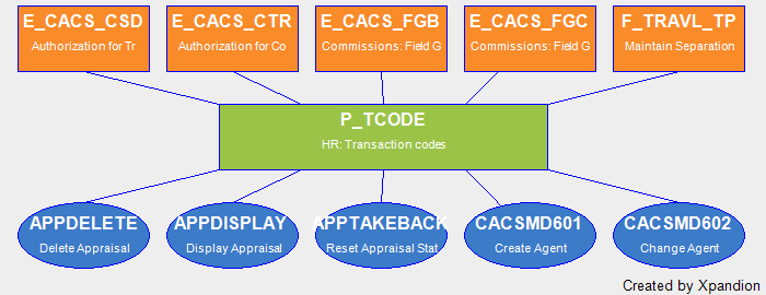 SAP Authorization Object P_TCODE HR: Transaction Codes: Complete Data